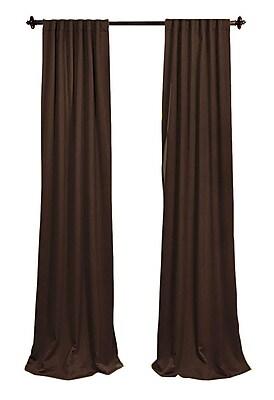 LA Linen Solid Sheer Rod Pocket 2 Piece Curtain Panels; Brown