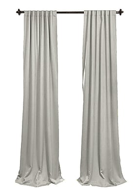 LA Linen Solid Sheer Rod Pocket 2 Piece Curtain Panels; Light Gray