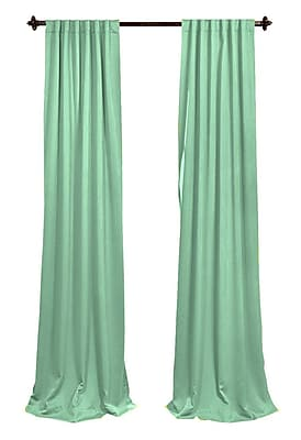 LA Linen Solid Sheer Rod Pocket 2 Piece Curtain Panels; Mint