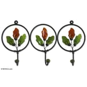 Novica Artisan Crafted Iron and Recycled Glass w/ Copper Revival Coat Rack