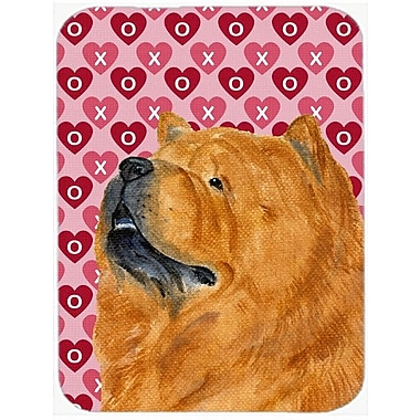 Valentine Hearts Chow Chow Hearts Love and Valentine's Day Portrait Glass Cutting Board