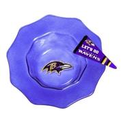 Evergreen Enterprises, Inc NFL Glass Dip Bowl; Baltimore Ravens