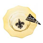 Evergreen Enterprises, Inc NFL Glass Dip Bowl; New Orleans Saints