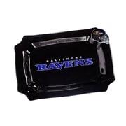 Evergreen Enterprises, Inc NFL Glass Rectangle Platter; Baltimore Ravens