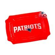 Evergreen Enterprises, Inc NFL Glass Rectangle Platter; New England Patriots