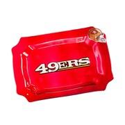 Evergreen Enterprises, Inc NFL Glass Rectangle Platter; San Francisco 49ers