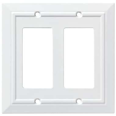 Franklin Brass Classic Architecture Double Decorator Wall Plate; Pure White