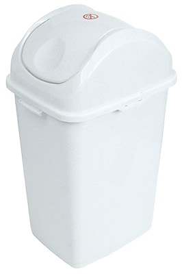 Superior Performance Superio 1.3 Gallon Swing Top Trash Can