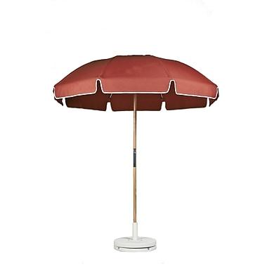 Frankford Umbrellas 7.5' Drape Umbrella; Coral Acrylic