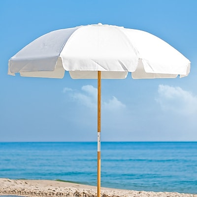 Frankford Umbrellas 7.5' Drape Umbrella; White Acrylic