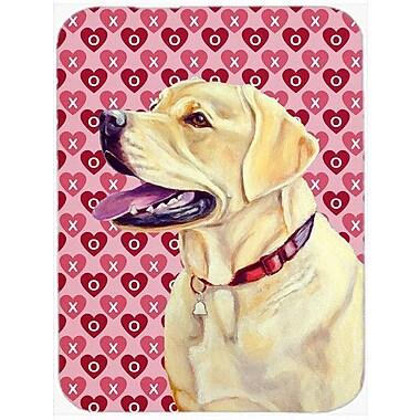 Valentine Hearts Labrador Hearts Love and Valentine's Day Portrait Glass Cutting Board