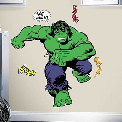 Room Mates Marvel Enterprises Classic Hulk Comic Peel and Stick Giant Wall Decal WYF078278774303