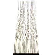 Ibolili 74'' x 40'' Natural Full Wavy Bamboo 1 Panel Room Divider