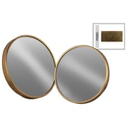 Urban Trends 2 Piece Round Wall Mirror Set; Gold