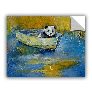 ArtWall ArtApeelz Panda Sailor by Michael Creese Painting Print on Canvas; 36'' H x 48'' W x 0.1'' D