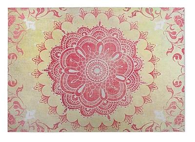 Kavka Gold/Coral Indoor/Outdoor Doormat; Rectangle 2' x 3'