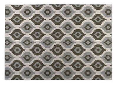 Kavka Namaste Gray Indoor/Outdoor Doormat; Rectangle 4' x 5'