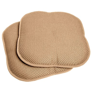 Sweet Home Collection Dining Chair Cushion (Set of 2); Taupe