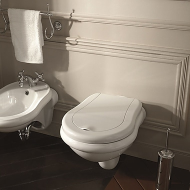 WS Bath Collections Retro Elongated Wall Hung Toilets