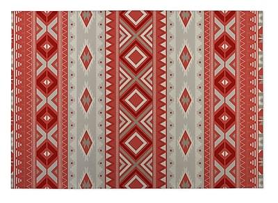 Kavka Red Indoor/Outdoor Doormat; Rectangle 2' x 3'