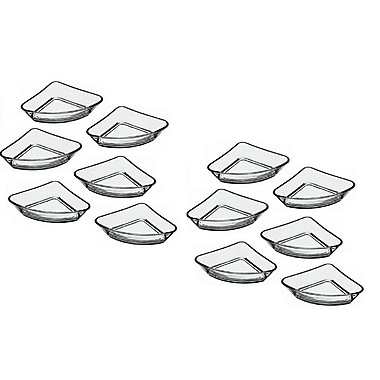 Linen Depot Direct Triangular Platter (Set of 12)