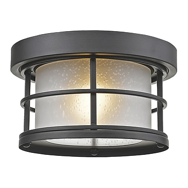 Z-Lite 1-Light Outdoor Flush Mount; Black