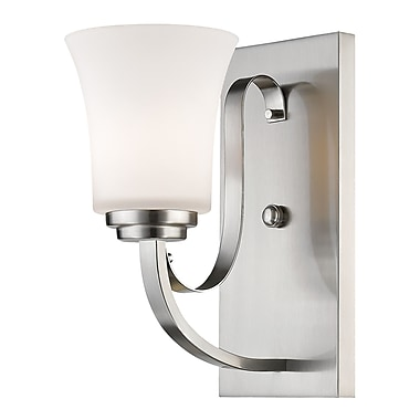 Z-Lite Halliwell 1-Light Wall Sconce; Brushed Nickel