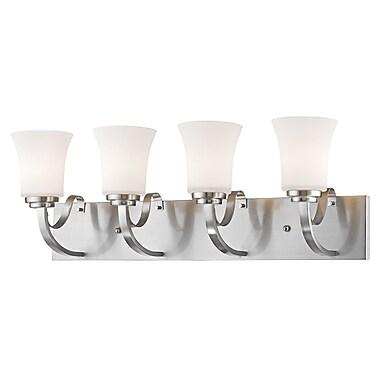 Z-Lite Halliwell 4-Light Vanity Light; Brushed Nickel