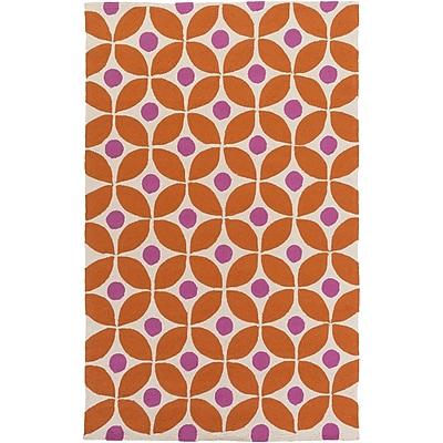 clairebella Miranda Burnt Orange/Magenta Indoor/Outdoor Area Rug; Rectangle 8' x 10'