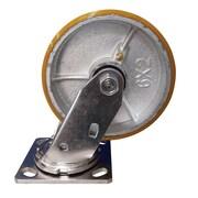 Blickle – Roulette robuste sans pivot, diamètre de 8 po (203 mm), uréthane moulé (CA-47PU80JVT)