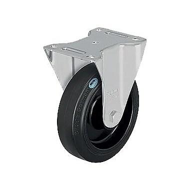 Blickle – Roulette en caoutchouc dur, diamètre : 6 5/16 po (160,3375 mm), matériau : caoutchouc dur (B-POEV 160R)