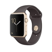 Apple – Montre Apple Watch Series 1, 42 mm, boîtier en aluminium or, bracelet sport cacao (MNNN2CL/A )