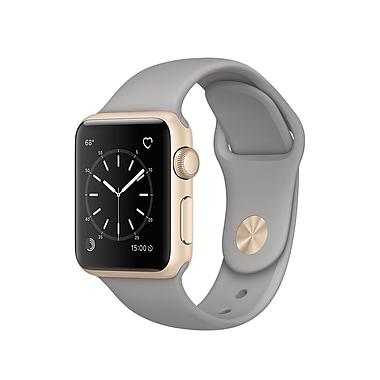 Apple – Montre Apple Watch Series 1, 38 mm, boîtier en aluminium or, bracelet sport ciment (MNNJ2CL/A )