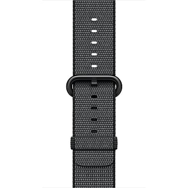 Apple – Bracelet en nylon tissé pour la montre Watch de 38 mm, noir (MM9L2AM/A)