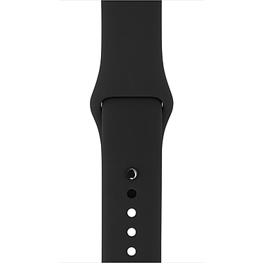 Apple Sport Band for 38mm Watch, Black (MJ4F2ZM/A)