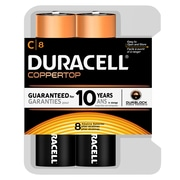 Duracell C Alkaline Batteries, 8/Pack