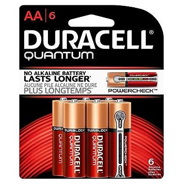 Duracell® Quantum AA Alkaline Batteries, 6/Pack
