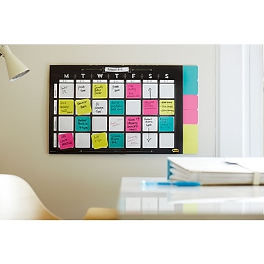 Post-it® Note Weekly Wall Calendar, 26 Sheets, Hanging Strips Included