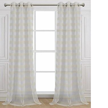 Dainty Home Cabana Curtain Panels (Set of 2); 76'' W x 84'' L