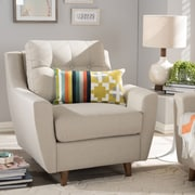 Wholesale Interiors Alcee Armchair; Light Beige