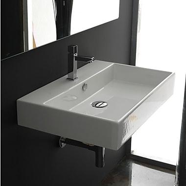 WS Bath Collections Ceramica II Unlimited Ceramic Bathroom Sink; Single Hole
