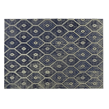 Kavka Navy Indoor/Outdoor Doormat; 2' x 3'