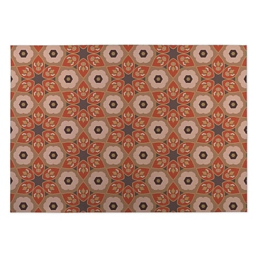 Kavka Rust/Gray Indoor/Outdoor Doormat; 4' x 5'