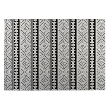 Kavka Ivory/Black Indoor/Outdoor Doormat; 2' x 3'