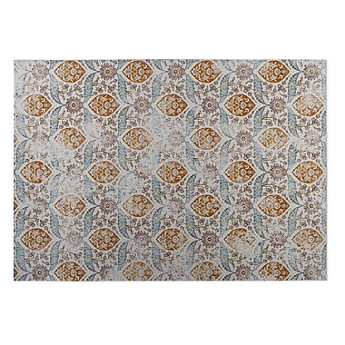 Kavka Ivory/Rust Indoor/Outdoor Doormat; 5' x 7'