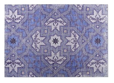Kavka Rite Blue Indoor/Outdoor Doormat; Rectangle 4' x 5'