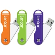 Lexar™ 16 GB TwistTurn USB Flash Drive, 3-Pack (LJDTT16GABNL3)