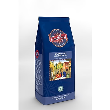 Timothy's Italian Blend Ground Coffee, 340g (96-30498)
