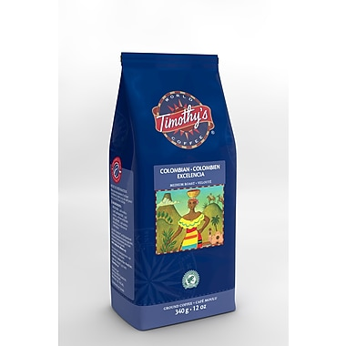 Timothy's Colombian Excelencia Ground Coffee, 340g (96-45498)