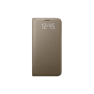 Samsung LED View Cover GS7 Phone Case, Gold